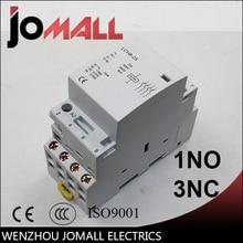 4P 16A 20A 25A 220V/230V 50/60HZ din rail household ac contactor 1NO 3NC