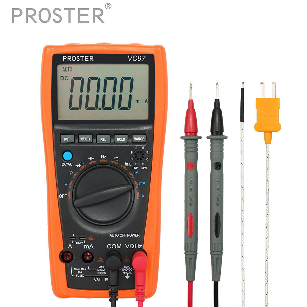 Auto Range Digital Multimeter transistor tester 4000 counts 20A Measuring capacitance Ammeter voltage Meter Temperature Tester portable integrated circuit tester ic tester transistor tester online maintenance digital led ic tester