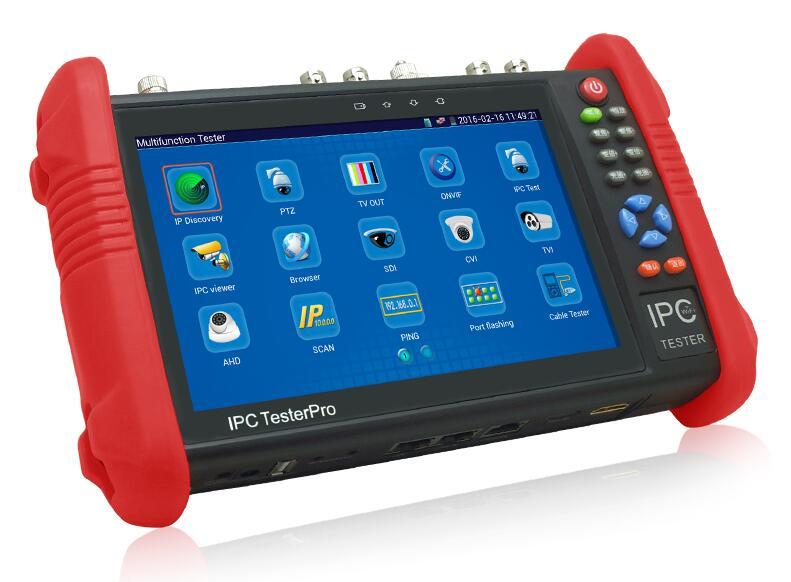 imágenes para Nueva 7 pulgadas cctv tester monitor de wifi control ptz onvif poe ip cámara analógica probador 12 v de salida