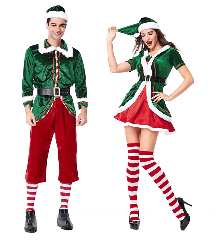 Us 22 69 Sexy Women Man Green Colour Santa Christmas Costume Dress Fancy Party Ladies Clubwear Uniform Costume In Anime Costumes From Novelty