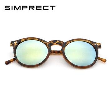 ee0851f658 SIMPRECT De lujo 2019 Vintgae ronda Gafas De Sol Mujer marca espejo De  diseño De Gafas De Sol Retro De moda De Gafas De Sol De Mujer