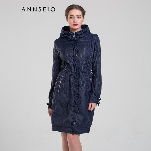 2017 весна новый стиль женщины плюс размер хлопка ватник узкая талия тонкая пункт пальто с капюшоном бренд clothing b8735