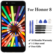 цена на Phone Replacement Part For Huawei Honor 8 FRD-L19 FRD-L09 LCD Display No Dead Pixel Black White Gold Touch Screen Panel Assembly