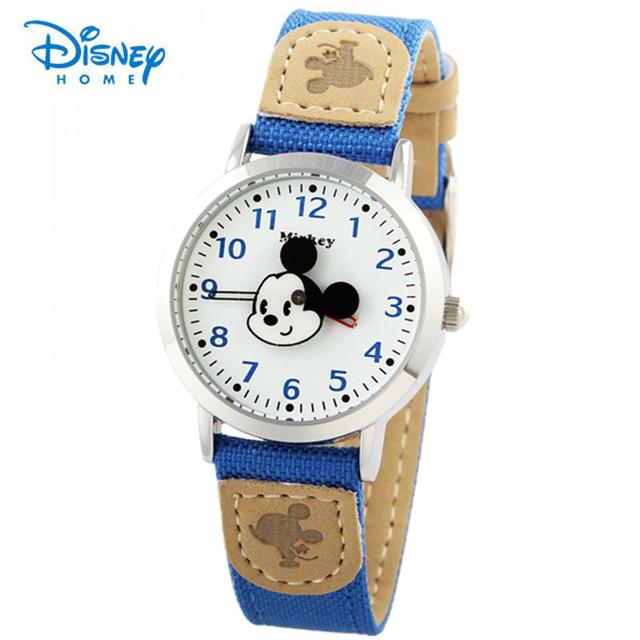 100% Genuine Da Disney Mulheres Relógio Menina Dos Desenhos Animados Da Moda Mickey Mouse de Pulso de Quartzo Relógios Senhoras Relógio De Pulso Relógio Vestido de Luxo