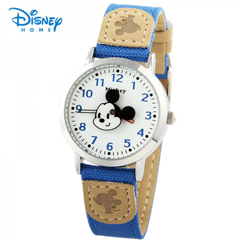 100% Genuine Disney Women Girl Cartoon Watch Fashion Luxury Mickey Mouse Quartz Wrist Watches Ladies Wristwatch Dress Clock