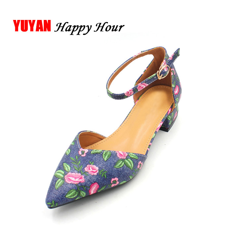 Sexy Ladies High Heels Women Flowers Heeled Shoes Pointed toe Women's Pumps Office Ladies Brand Shoes Low Heel 3cm A007 size 33 42 women real genuine patent leather high heel shoes brand sexy ladies heels wedding pumps heeled footwear shoes r08636