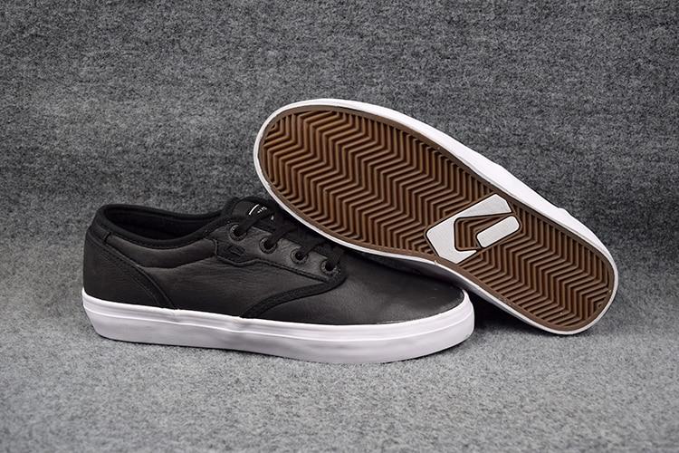 2016 Boys GLOBE MOTLEY Board Shoes BLACK FG Leather Street Shock-Absorbant Footwear