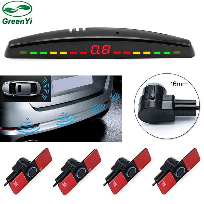 GreenYi оптовая продажа 10 шт. 16 мм плоские ультразвуковой Сенсор s автомобиля светодиодный парковка Сенсор Авто Парковочные системы расстояние Дисплей монитор