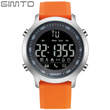 GIMTO Digital Sport Watch Men Waterproof Shock Stopwatch Pedometer Bluetooth Smartwatch LED Electronic Wrist Watches Army