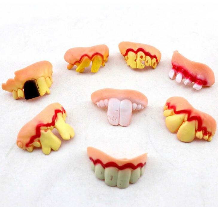 BYFRI Halloween False Teeth Zanne Denti per Cosplay Halloween Tema del Partito