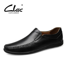 CLAX Mens Loafers Genuine Leather Summer Autumn Casual Leather Shoe Male Boat Shoe Moccasin Chaussure Homme luxury brand Soft цена