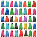 plain Solid Two Colored Satin Superhero Cape child cape, party favor, satin capes, boys girls satin capes, cheap party favor