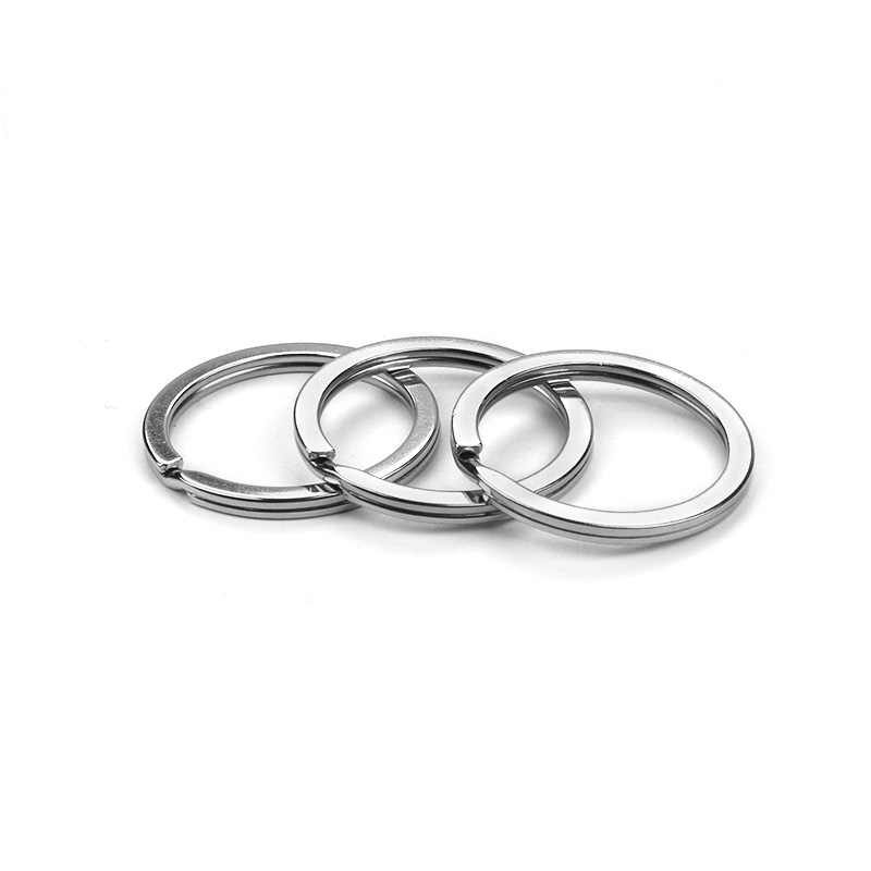 10 ชิ้น/ล็อตโลหะผสมโลหะเงินรอบวงแหวน DIY Key Chains เครื่องประดับ 25 มม./30 มม.