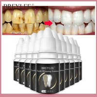 BREYLEE Teeth Whitening Essence Powder Oral Hygiene Cleaning Serum Removes Plaque Stains Tooth White Care Dental Tools 10pcs