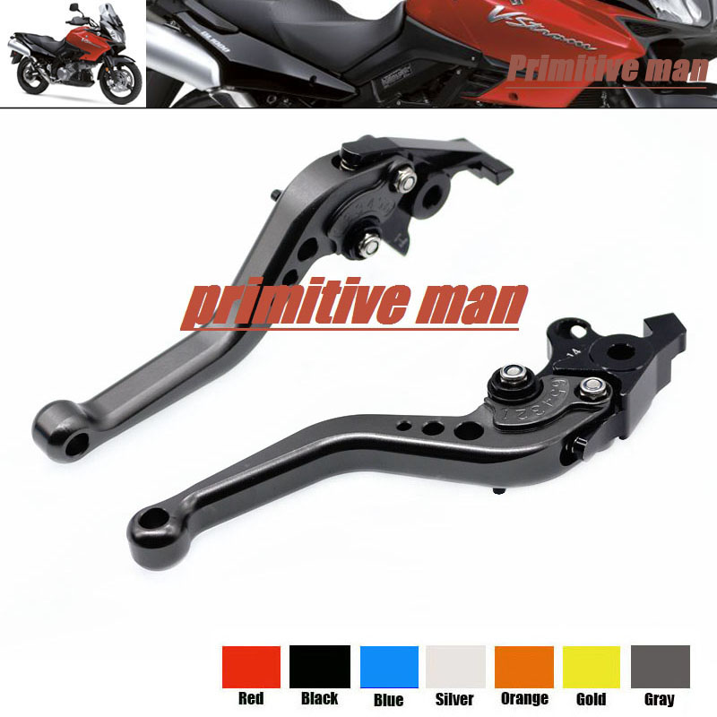 For SUZUKI TL1000R SV1000/S DL1000/V-STROM Motorcycle Accessories Aluminum short Brake Clutch Levers Gray 1000