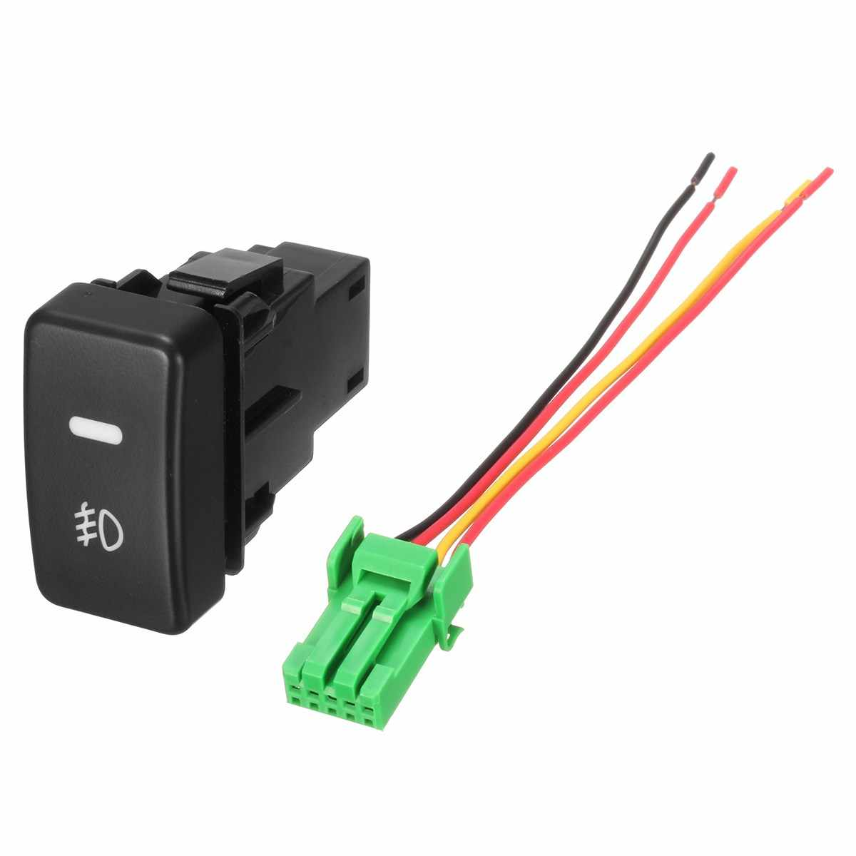 5 Pin LED Car Push Button Fog Light Switch wire For Honda /Civic /Accord  /CRV Fit