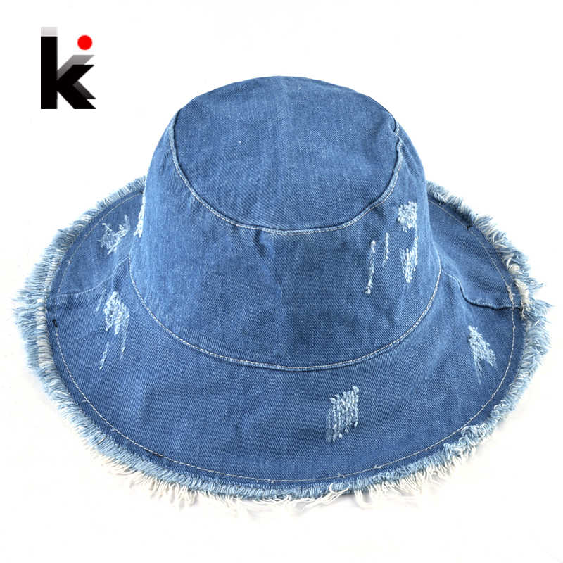 dce8873be Detail Feedback Questions about Summer Washed Denim Sun Hat Women ...