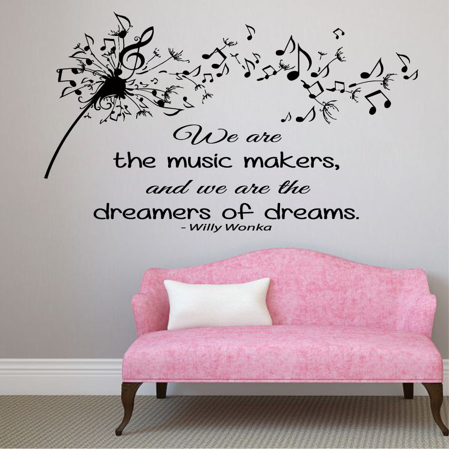 Wall decals quote vinyl decal sticker dandelion music notes wall decals quote vinyl decal sticker dandelion music notes bedroom decor kk847 in wall stickers from home garden on aliexpress alibaba group amipublicfo Gallery