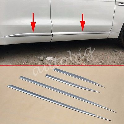 Pearl Chrome Door Body Strips Cover For Jaguar F-Pace X761 Accessories Molding