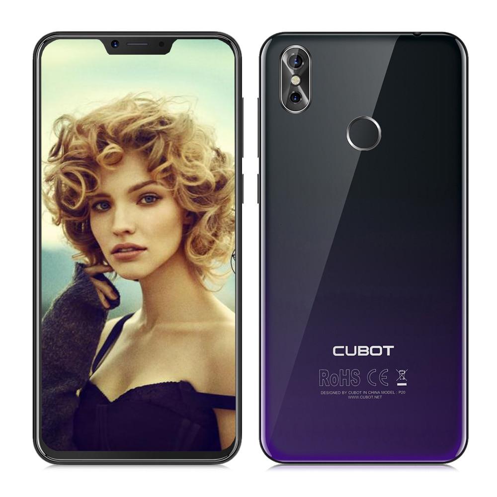 CUBOT P20 Smartphone 4G Android 8.0 Phablet 6.18 MTK6750T Octa Core 1.5 GHz 4 GB RAM 64 GB ROM 20.0MP + 2.0MP + 13.0MP Caméras Téléphone