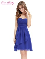 HE03540 Ever Pretty New Sapphire Blue Sweetheart Neckline Strapless Short Cocktail Dress 2014