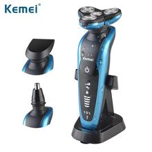 Men Electric Shaver Rechargeable Electric Shaving Machine Razor For Cleaning Beard Wet and Dry Washable Four-Blade KM-58892