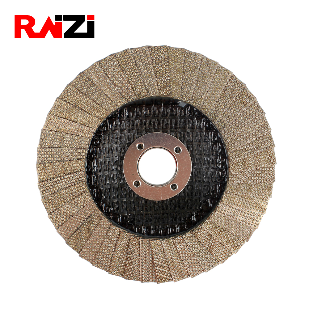 Raizi 4,5 inch Flap Cup Grinding Wheel Grit 60 Electroplated Diamond Disc For Concrete Stone