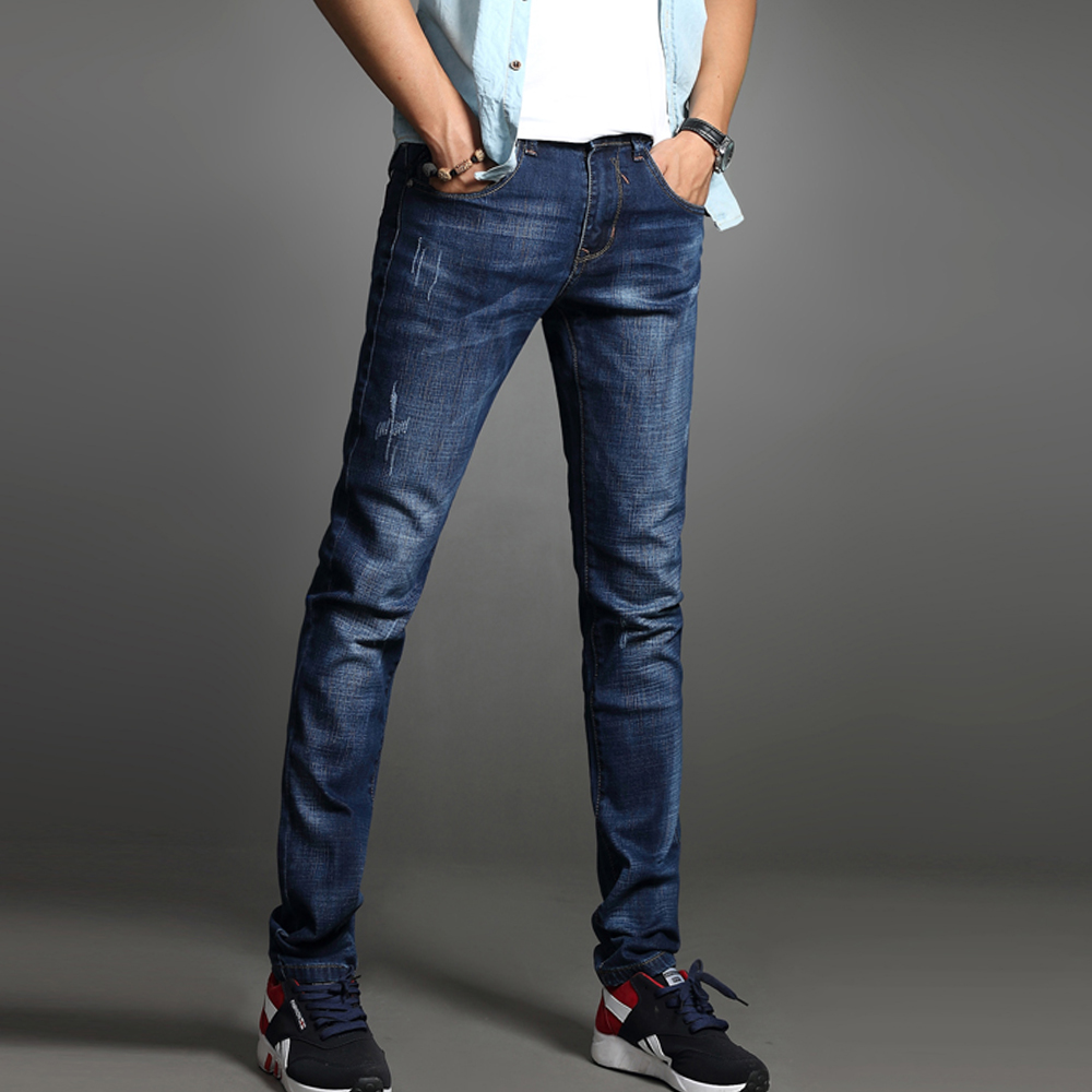 Vomint 2017 New Autumn Mens Jeans Cotton Stretch Skinny -3875