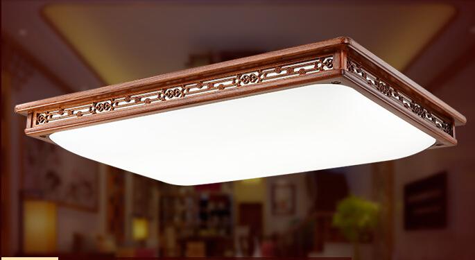 Fernbedienung Asiatische Chinesische Stil Deckenleuchte LED Grosse Moderne Holz Lichter Fr Wohnzimmer Orientalischen Lampe