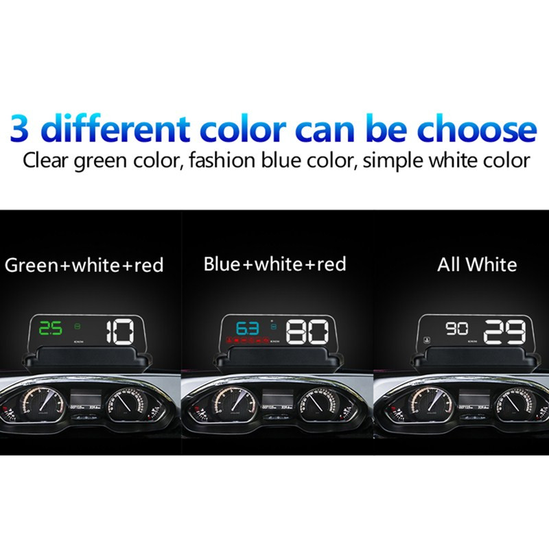 Image 3 - GEYIREN hud T900 HUD C500 obd head up display gps speedometer universal car Overspeed Warning Windshield Projector Alarm System-in Head-up Display from Automobiles & Motorcycles