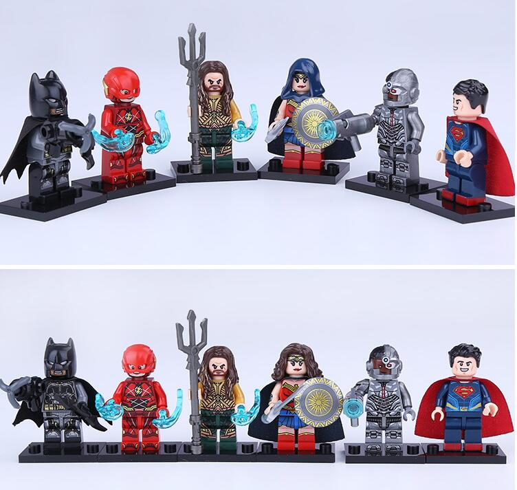 Justice League Batman Wonder Woman Superman Aquaman Building MiniMan movie Fit for Minifigure for Lego