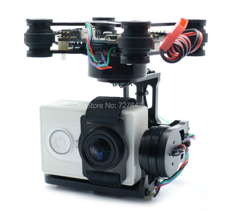 3 Axis Brushless Gimbal W black 2204 260kv 2805 Motors 32 bit Storm32 Controlller for Gopro