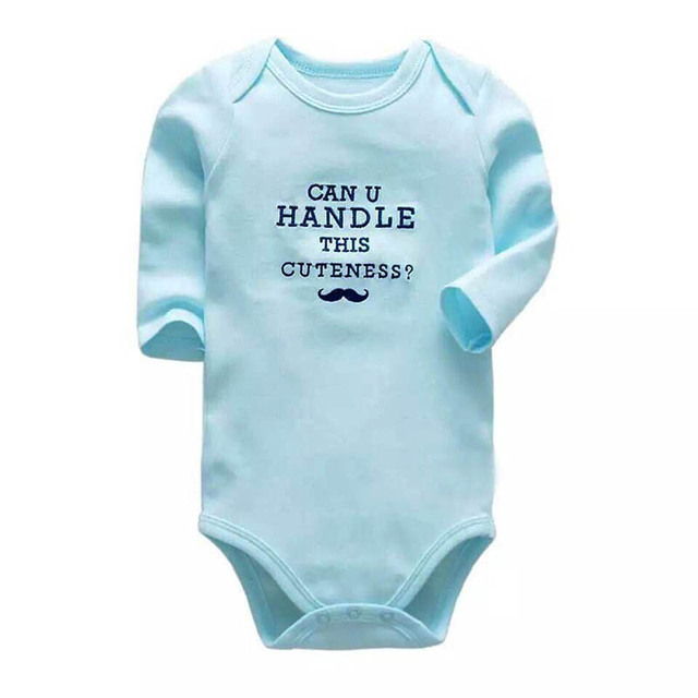 ce983742405c3 US $2.63 25% OFF|New Baby Bodysuit Lovely Printing Infant Jumpsuit Pure  Cotton Short Sleeve Boys Girls Baby Clothes-in Bodysuits from Mother & Kids  on ...
