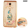 Xiao redmi note 3 pro case capa strass luxo para xiaomi redmi note 3 pro silicone case stand titular das mulheres subiu de ouro casos