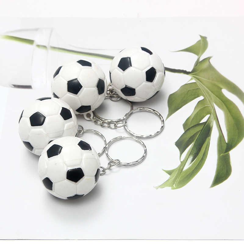 SUKI Esportes do Verão Cadeia Chave Do Carro Chaveiro Chave Anéis ABS Impresso Mini Bonito do Futebol Chaveiro Pingente Para Esportista Favorito presente