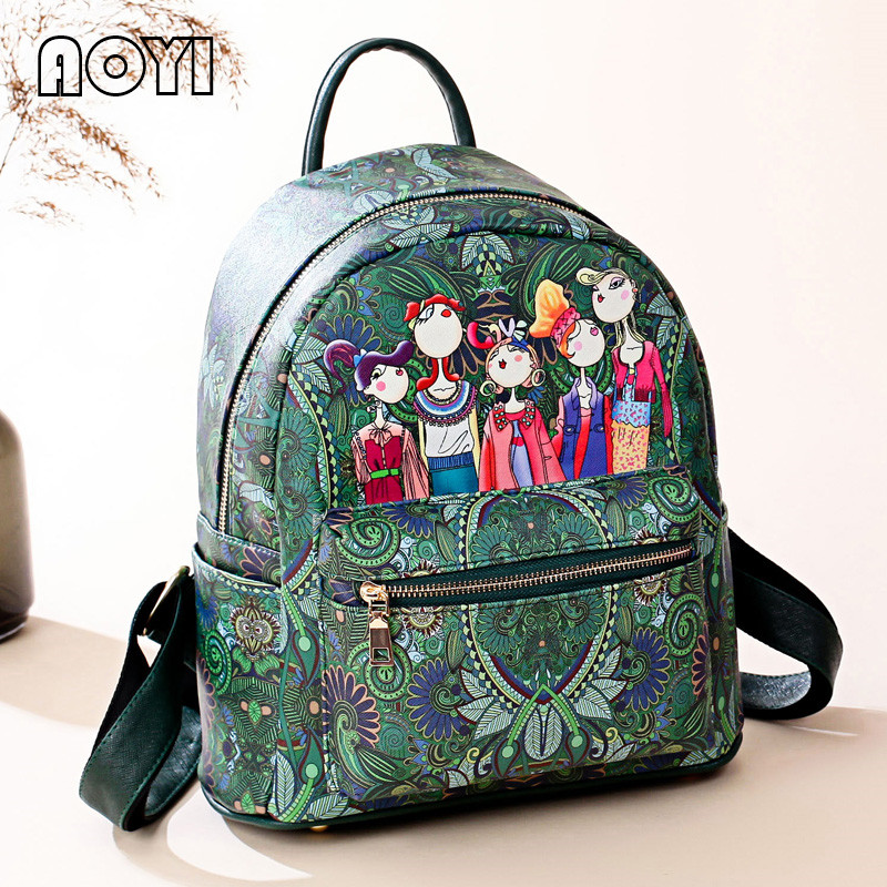 99865732f203 AOYI Fashion Women Backpack Stylish 3D Forest Style Printing Girls Party  School Backpack Famous Designer Cute Travel Bag-in Backpacks from Luggage    Bags on ...