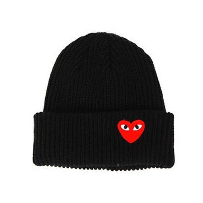 2018 Winter woman warm hats Heart Eyes Cartoon Label Beanies Knit Hat Toucas Bonnet Hats man hat Crochet Cap Skullies Gorros