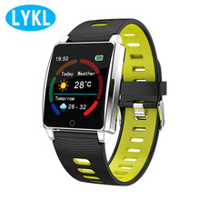 R17 металлические умные часы IP67 водонепроницаемый цветной oled-дисплей нескольких видов спорта режимов с сердечный ритм и крови контроля давления