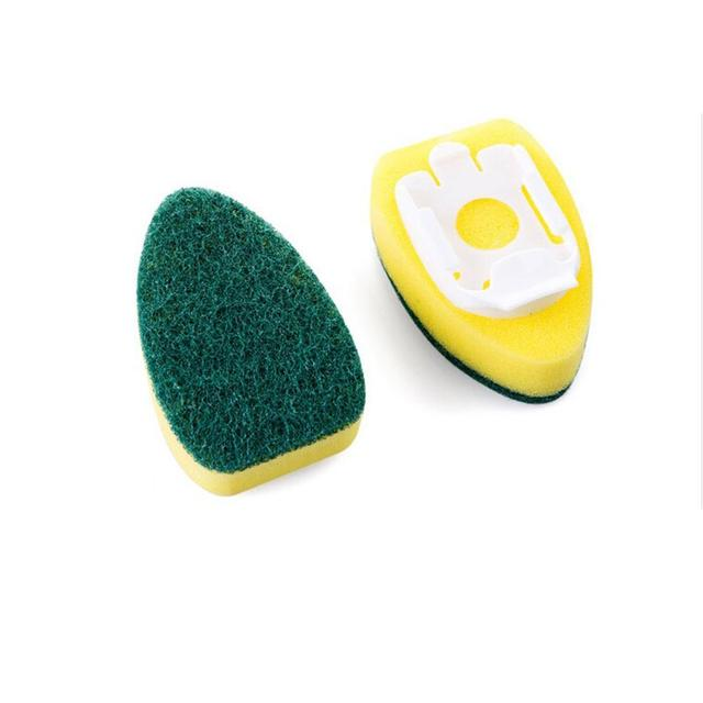 Creative Cleaning Sponge Brush Dish Washing Tool Soap Dispenser Detachable Handle Kitchen Cleaning Tools For Kitchen Brush 3