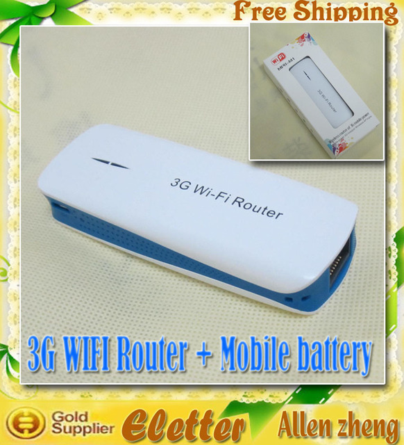 3G wifi Router  1800mAh mobile power 3G hotspot Wireless AP Triple  Free Shipping
