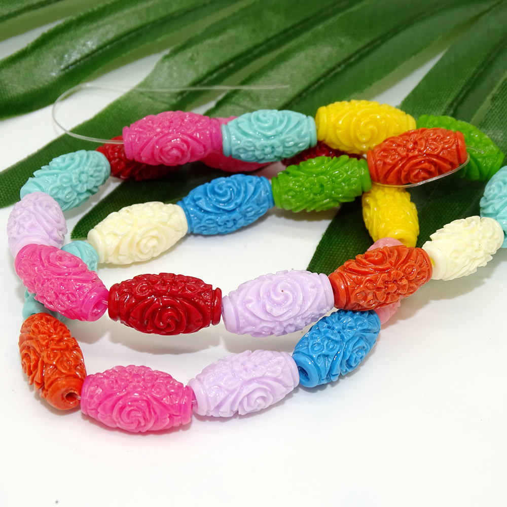 Coral flower pillar multi - size coral mixed color flower pillar beads - beads wholesale manufacturers spot direct sales