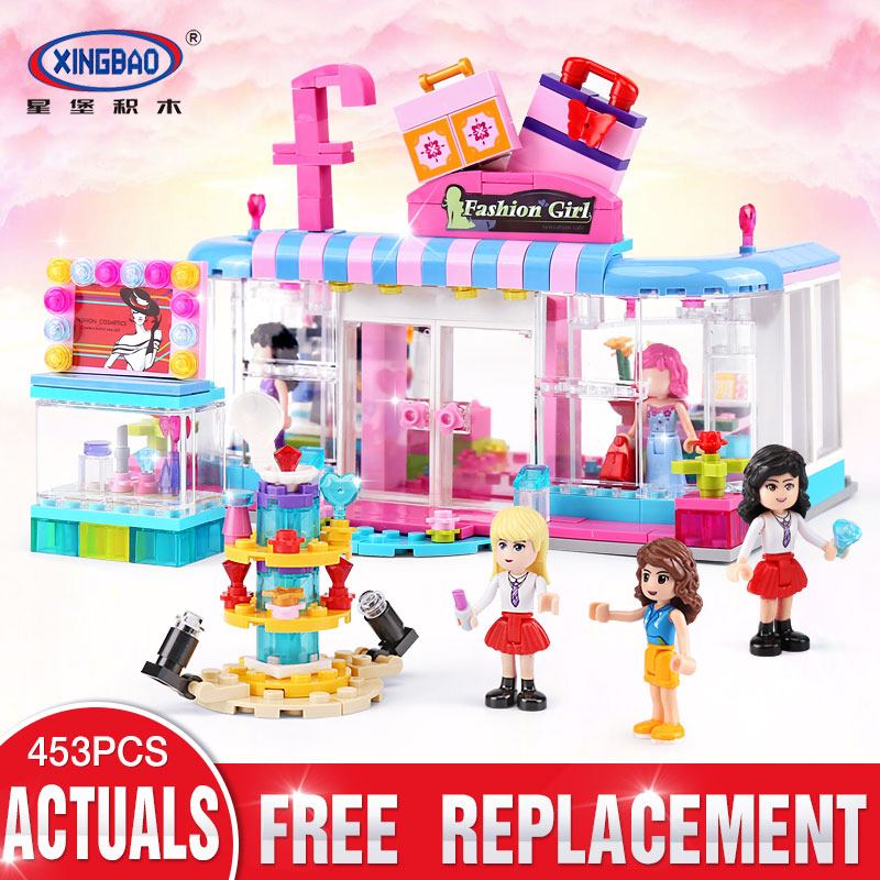 XINGBAO 12010 Friend Girls Series The Fashion Clothing Store Set Building Blocks Bricks Educational Girls Toys Gift