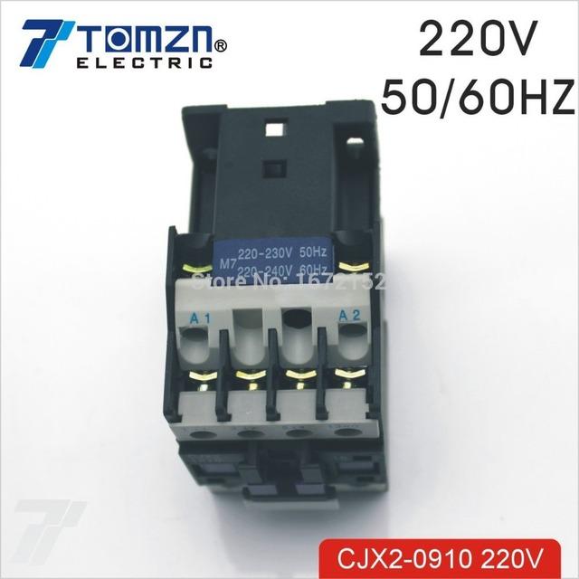 CJX2 0910 AC contactor LC1 9A 220V 50HZ/60HZ