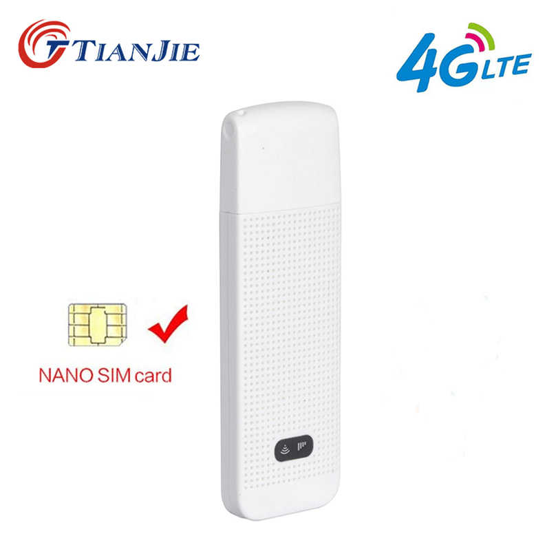 TIANJIE 3G 4G WiFi Router Mobile Portable/Mini/Wireless USB LTE FDD Network modem dongle with nano SIM Card Slot car hotspot