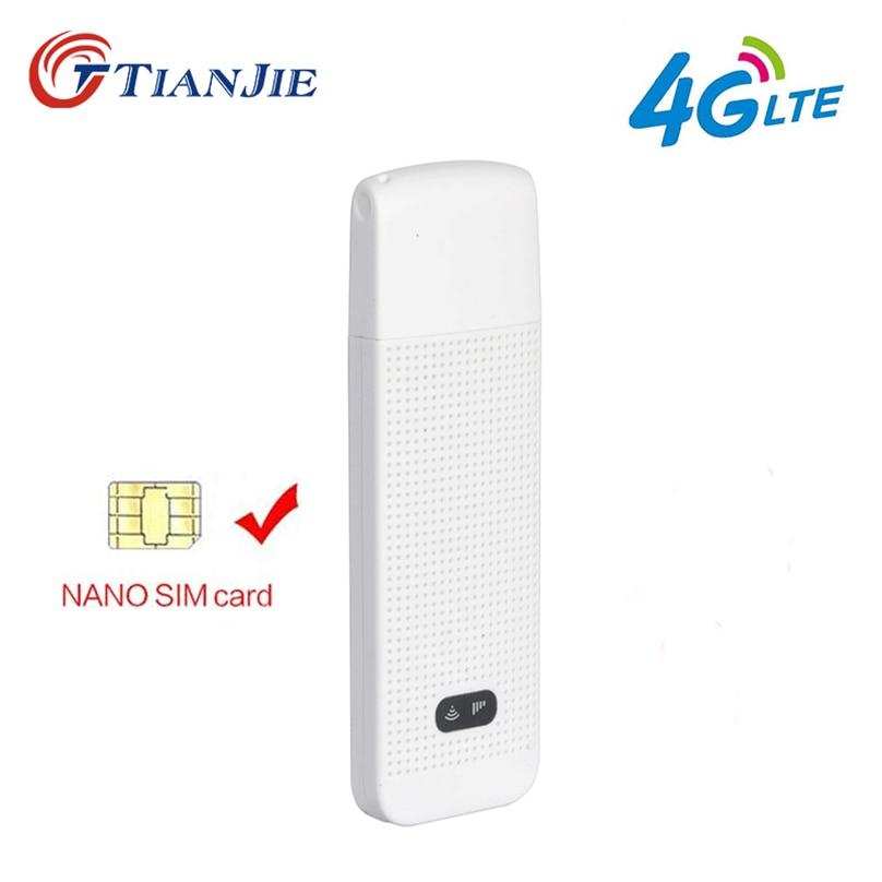 TIANJIE 3G 4G WiFi Router Mobile Tragbare/Mini/Wireless USB LTE FDD Netzwerk modem dongle mit nano SIM Karte Slot auto hotspot