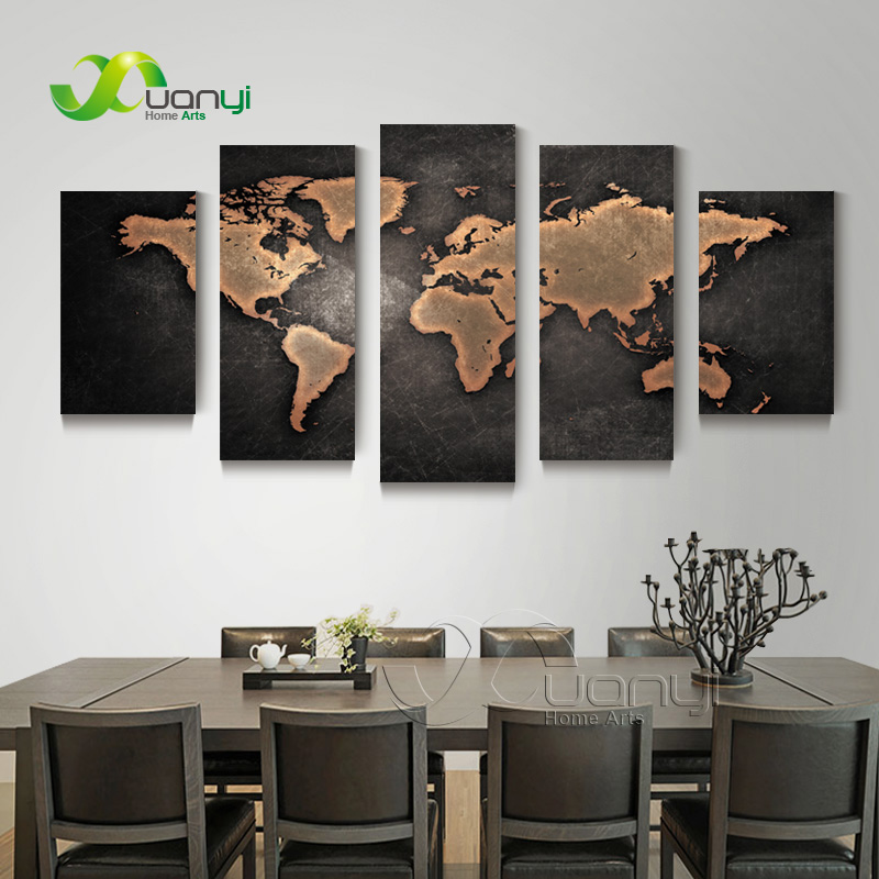 5 piece wall art world map canvas abstract oil painting artwork 5 piece wall art world map canvas abstract oil painting artwork modern canvas for home decoration canvas print unframed pr1249 in painting calligraphy gumiabroncs Image collections