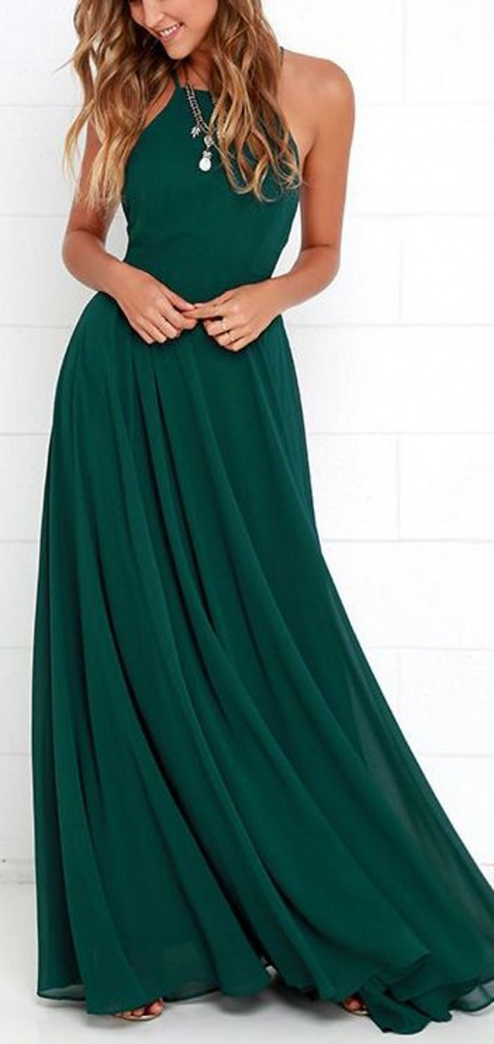 Hot Sale Sleeveless Chiffon Prom Party Gowns Cheap Off The