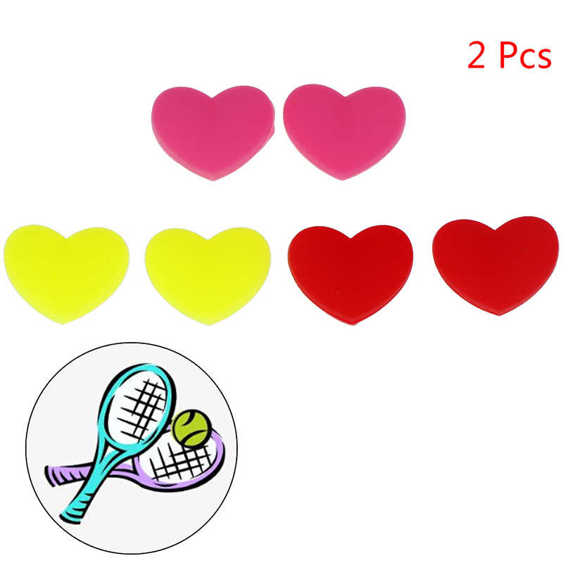 1PC Heart-Shaped Tennis Racket Shock Absorber Tennis Racquet Vibration Dampeners