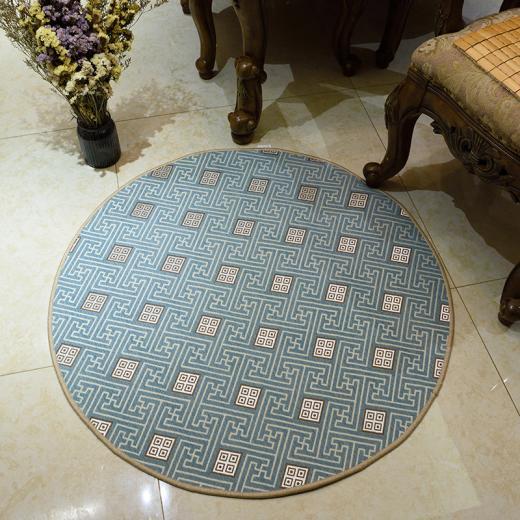 Diamètre 100 cm géométrie nordique imprimé tapis rond pour salon ordinateur chaise zone tapis tapis vestiaire tapis
