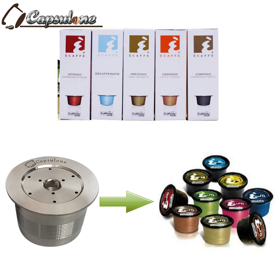 CAPSULONE fit for caffitaly coffee Machine reusable capsule wacaco minipresso CA Maker refillable capsule in coffee filter